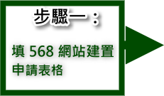 步驟一:填568網站建置申請表格